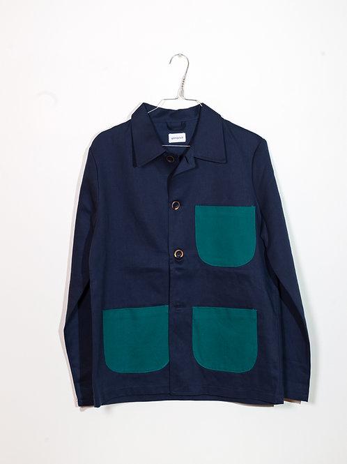 Jacket blue&green