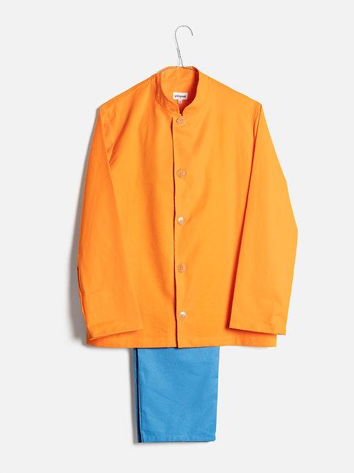 Spring clothes orange&azure