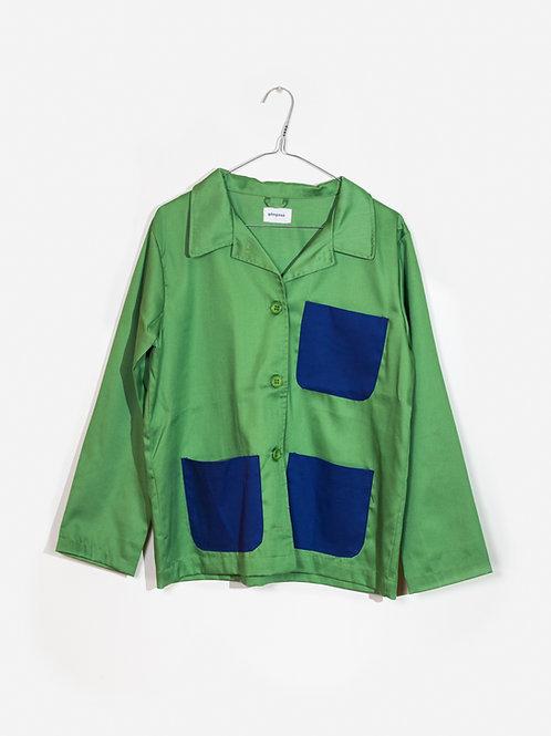 Jacket green&blue