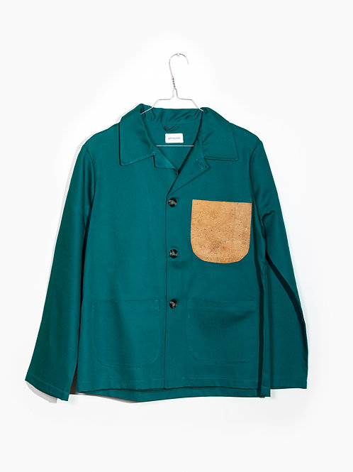 Jacket green&cork