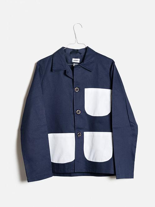 Jacket blue&white