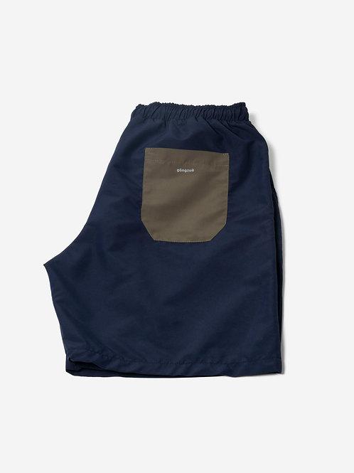Swimwear in regenerated fabric-blue&green