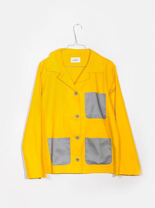 Jacket yellow&grey