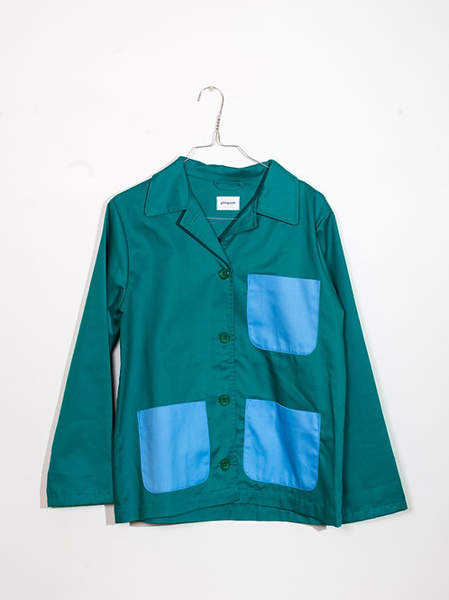 Jacket green&azure