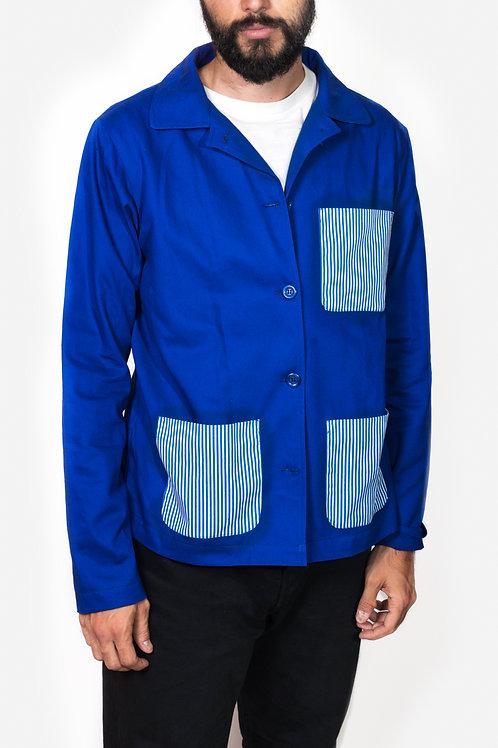 Jacket blue&lines