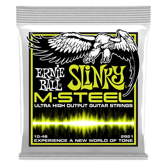 REGULAR SLINKY M-STEEL ELECTRIC GUITAR STRINGS - 10-46 GAUGE