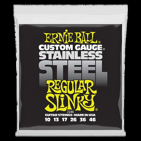 REGULAR SLINKY STAINLESS STEEL WOUND ELECTRIC GUITAR STRINGS - 10-46 GAUGE