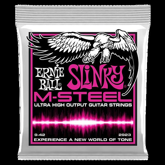 SUPER SLINKY M-STEEL ELECTRIC GUITAR STRINGS - 9-42 GAUGE