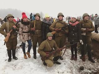 Комсомольцы приняли участие в реконструкции прорыва блокады Ленинграда