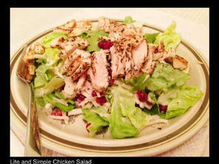 LITE AND SIMPLE CHICKEN SALAD