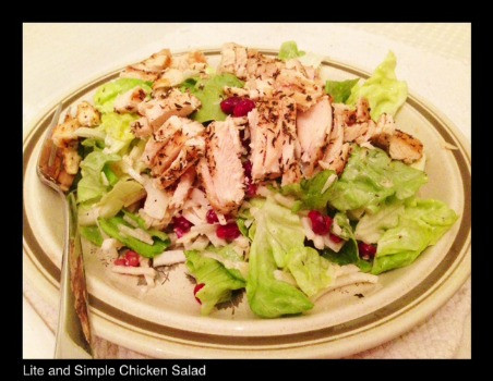 Lite and Simple Chicken Salad | Living Your Best Healthy Life