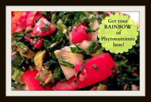 Kale, Cucumber, and Tomato Salad | Living Your Best Healthy Life