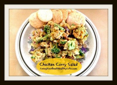 CHICKEN CURRY SALAD | Living Your Best Healthy Life