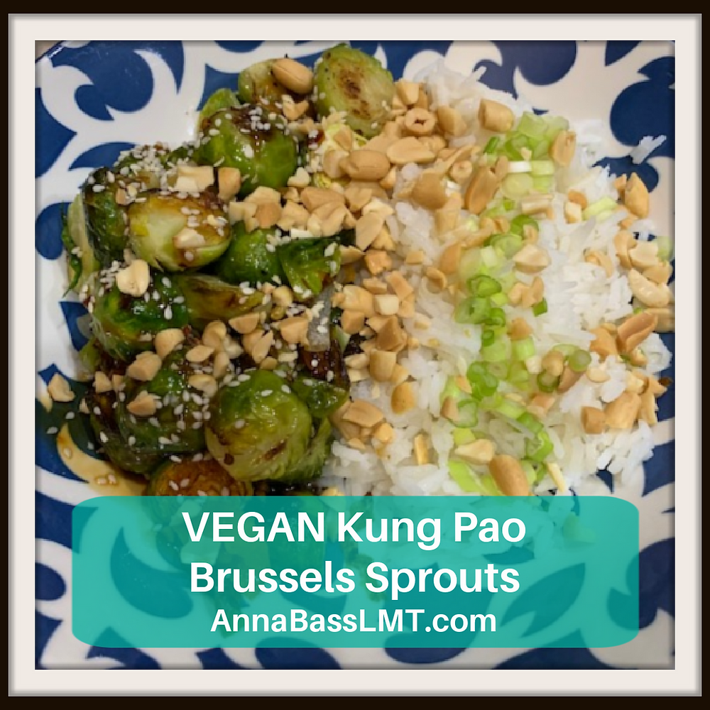 VEGAN Kun Pao Brussels Sprouts | AnnaBassLMT.com | Riverview FL