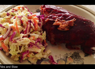 AWESOME BBQ RIBS AND SLAW