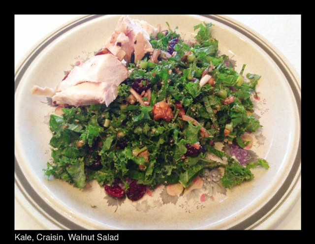 Kale, Craisin & Walnut Salad | Living Your Best Healthy Life