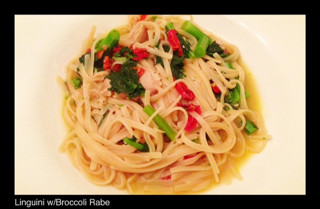 LINGUINI WITH BROCCOLI RABE | Living Your Best Healthy Life