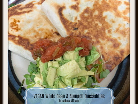 VEGAN White Bean & Spinach Quesadillas