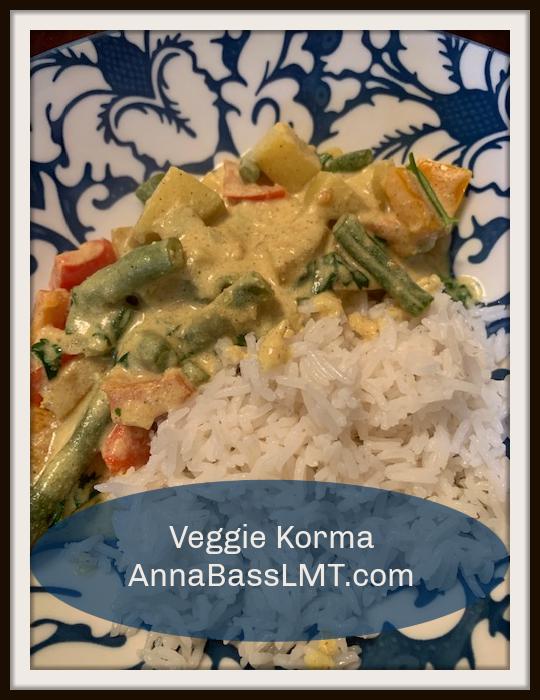 VEGAN Veggie Korma | AnnaBassLMT.com | Riverview FL