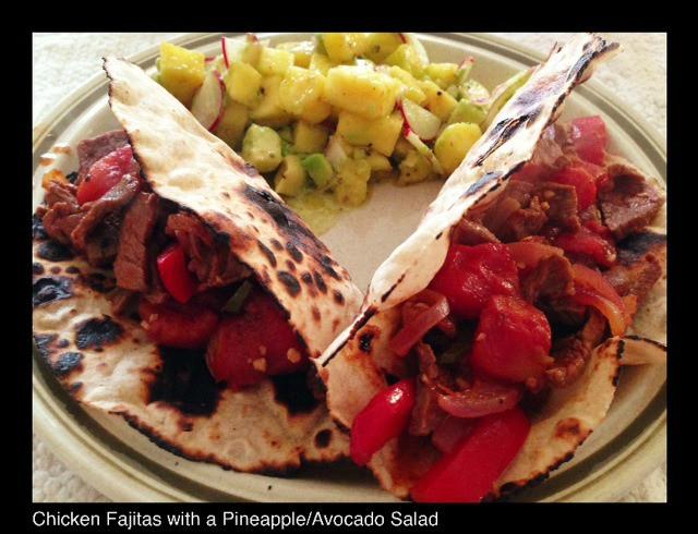 Beef Fajitas & Pineapple Avocado Salad | Living Your Best Healthy Life