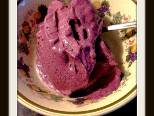 3 INGREDIENT SUGAR AND DAIRY FREE BLUEBERRY ICE CREAM