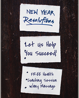New Years' Resolution January 2021 Promotion - FREE Health Coach session