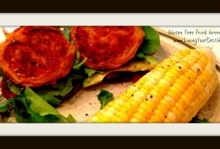 GLUTEN FREE FRIED GREEN TOMATO BLT's