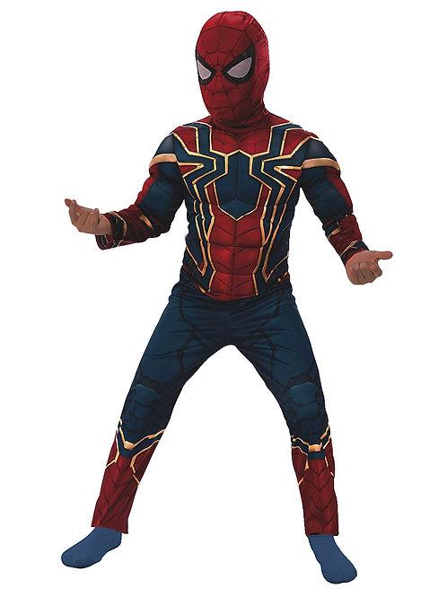 DISFRAZ IRON SPIDER SPIDERMAN HOMBRE ARAÑA CON MUSCULOS