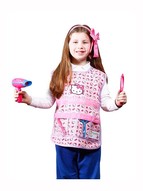 Disfraz Traje Peluquera Estilista Hello Kitty Original
