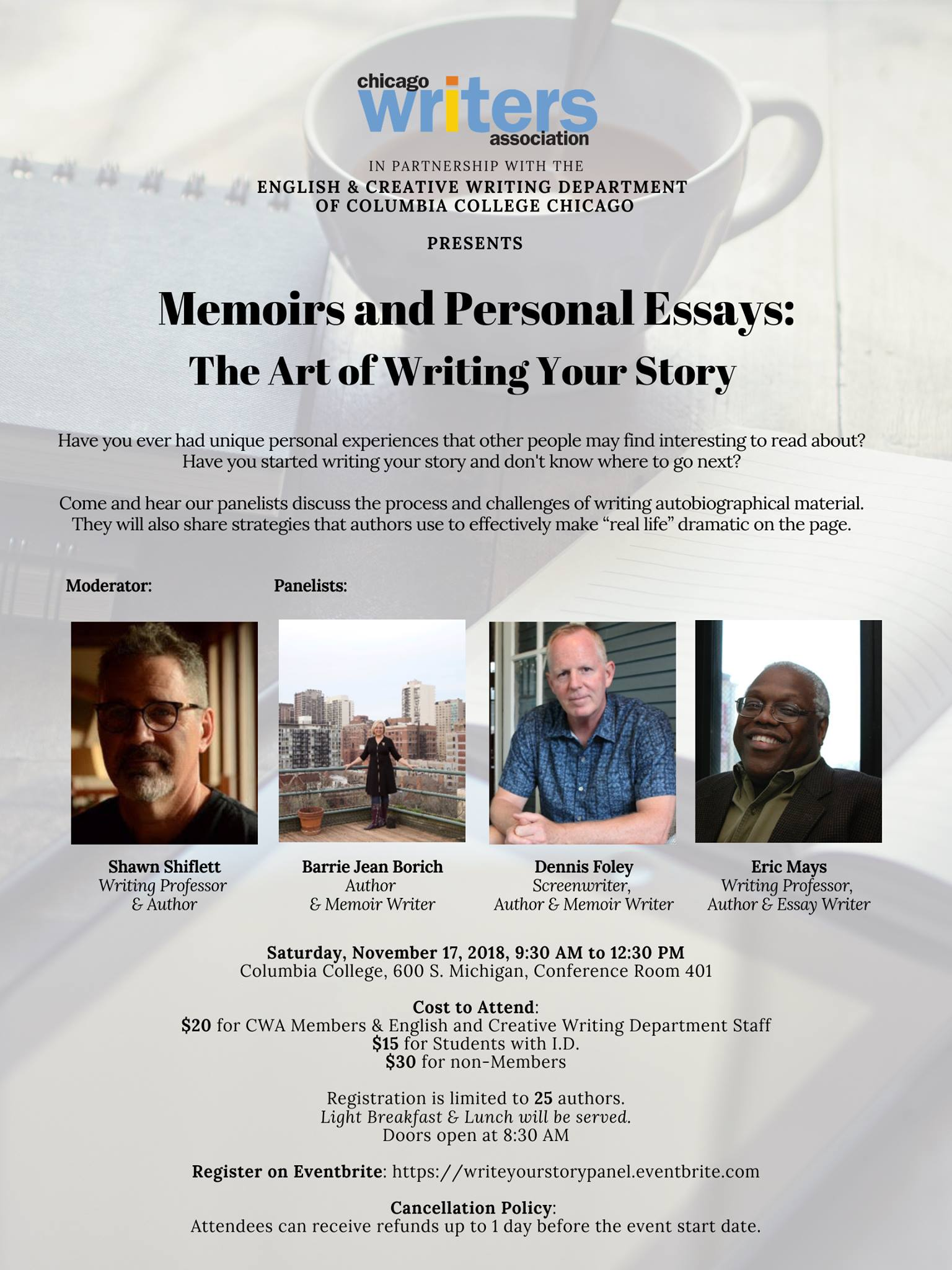 Chicago Writers' Association panel