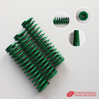 Flat Wire Compression Spring Material: high carbon steel Wire thickness: 2.50 mm Wire width: 5.00 mm Free length: 90.00 mm Pitch: 6.50 mm center to center