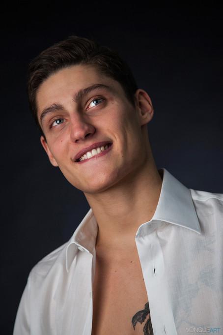 Male model portfolio shoot