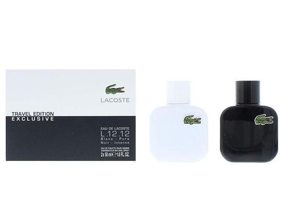 Lacoste Eau de Lacoste L.12.12 Gift Set 50ml EDT Blanc + 50ml EDT Noir