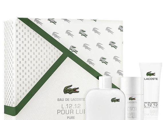 Lacoste Eau de Lacoste L.12.12 Blanc Gift Set 100ml EDT + 75ml Deodorant Stick