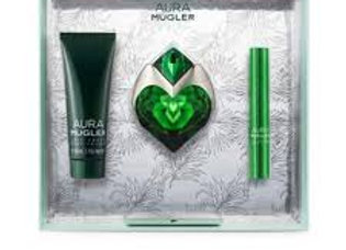 Thierry Mugler Aura gift set 30ml Edp refillable+ 50ml body lotion + perfume pen