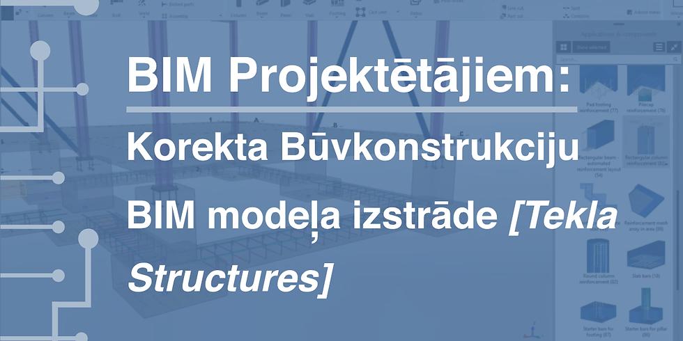 BIM Projektētājiem: korekta Būvkonstrukciju BIM modeļa izstrāde (Tekla Structures)