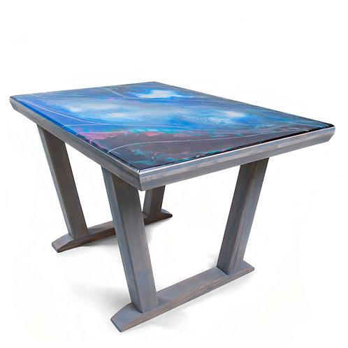 Krištáľový stôl zo živice