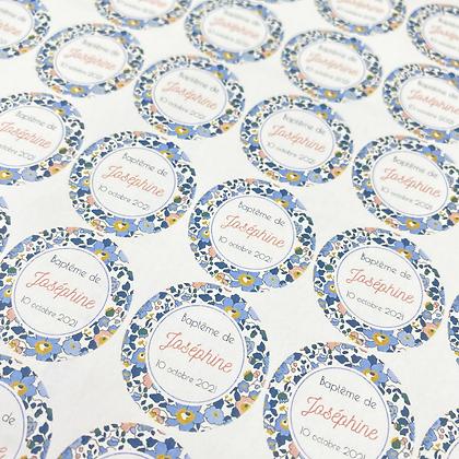 Planches de 48 Stickers ronds 30 mm