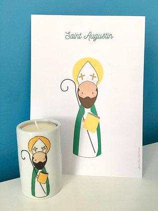 Duo Saint Patron : Affiche et bougeoir