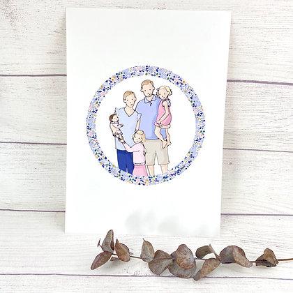 Portrait de famille illustration