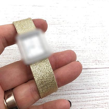 Bracelet pour montre Poiray tissu lurex doré