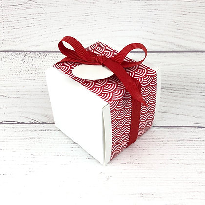 Cube de dragées Etiquette (couleurs au choix)