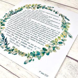 affiche couronne eucalyptus