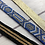 Thumbnail: Bracelet pour montre Poiray tissu lurex doré