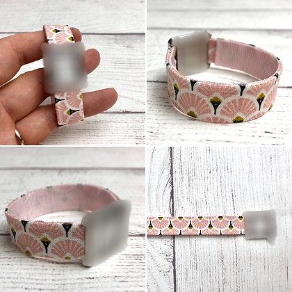 Bracelet pour montre Poiray motif Art Déco Eventails