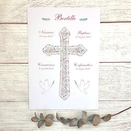 Affiche dates religieuses - Croix Liberty