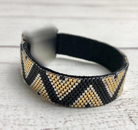 Bracelet pour montre Poiray motif CHEVRONS