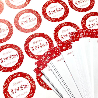 Planches de 24 Stickers ronds 40 mm