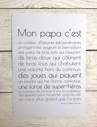 """Affiche """"Mon Papa c'est"""""""