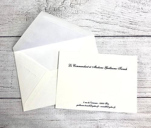 Cartes de correspondance avec enveloppes